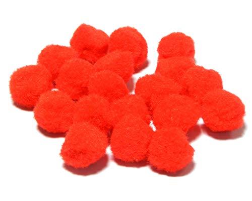 Perlin - Pompons Pompon 10mm Rot Bommel 250stk Nähen Tilda Basteln Borte bälle Flauschigen Plüsch Bälle für Lustige DIY Kreative Handwerk DEK5 x5