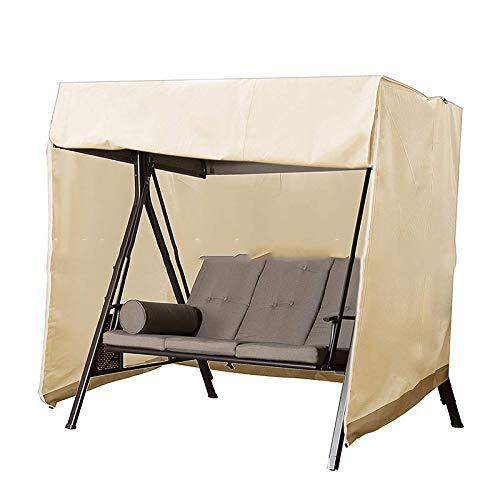 SFGHOUSE Housse de chaise de jardin imperméable pour balancelle de hamac et balançoire de protection contre la poussière et les UV (beige)