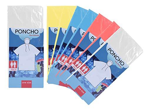 Pullach Hof Regenponchos 8 Stück für Erwachsene passend für Damen und Herren mit Kapuze als Fahrrad Regencape Notfall Poncho