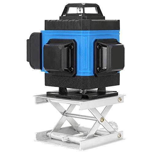 Nivel láser 16 líneas 360 grados horizontal vertical con base giratoria KKmoon Herramienta de nivel multifuncional aplicación de línea transversal vertical control remoto función de autonivelación