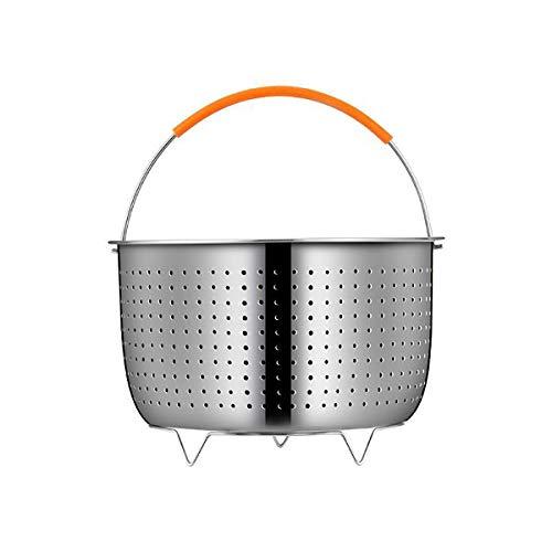 LOKIH 304 Vaporera De Acero Inoxidable Cestillo Multiusos De Acero Inoxidable para Una Cocina Al Vapor Apto para Diferentes Macetas,6L