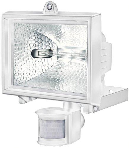 Brennenstuhl Halogenstrahler mit Infrarot-Bewegungsmelder / Flutlicht ideal als Baustrahler (Außenstrahler IP44 geprüft, 400 Watt) weiß