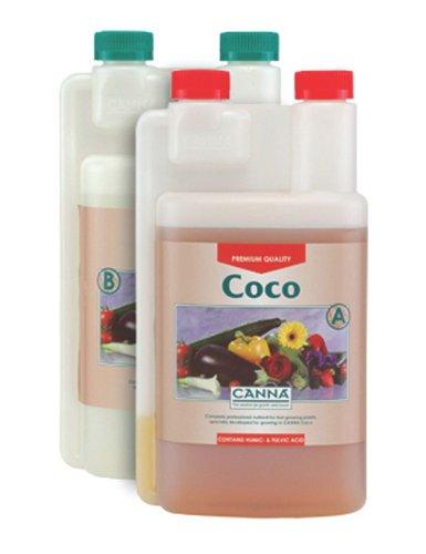 Canna Coco Pflanzendünger, 1 Liter, A & B, 2 Flaschen