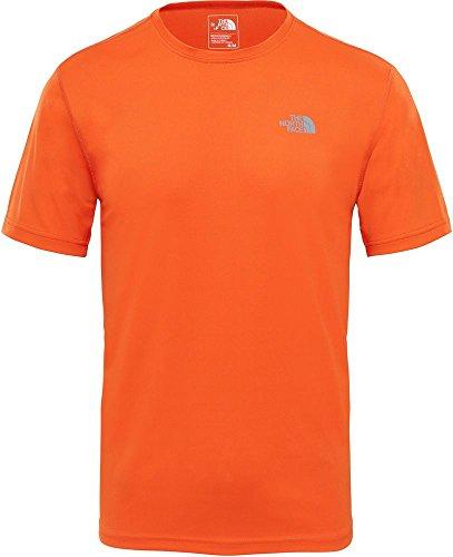 North Face M S/S Flex EU T-Shirt Homme, Persian Orange, XL