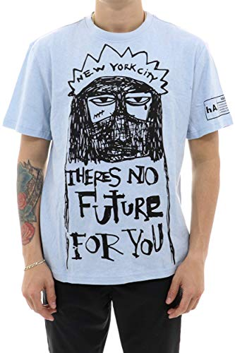 Haculla Theres No Future For You T-shirt XLARGE LT.BLU