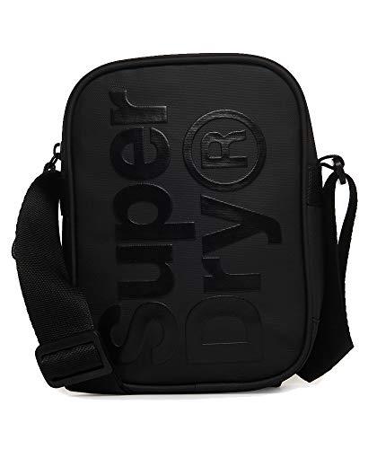 Superdry Herren Side Bag Geldbörse Schwarz (Black)
