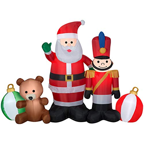 Gemmy 5-ft Lighted Santa Christmas Inflatable