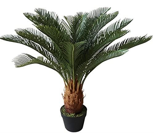 Cycaspalme Deluxe 80cm/100cm mit 24 Wedeln BE Kunstpalmen Kunstpflanzen künstliche Palmen Cycas