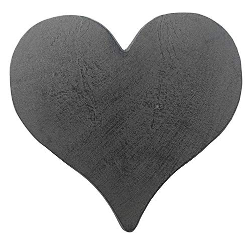 Comfy Hour Rustic Style Outdoor Collection Cast Iron Garden Stepping Stone - Heart