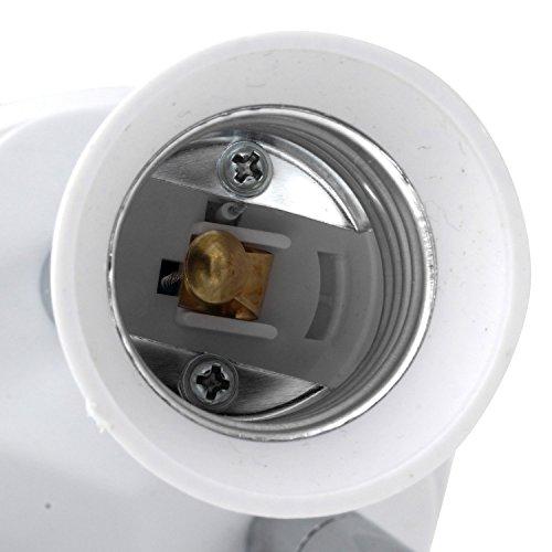 CLWHJ-360 Degrees Adjustable-3 in 1 E26/E27 Splitter Socket Adapter. E26/E27 Standard LED Bulbs 360 Degrees Adjustable 180 Degree Bendable Max Watt 180W