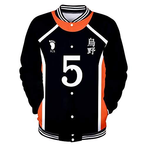 Haikyuu!! to The TOP Jacke Baseball Sweatshirt Anime Pullover Volleyball Fans Freizeitmäntel Langarm Tops Mode Mäntel für Männer Frauen