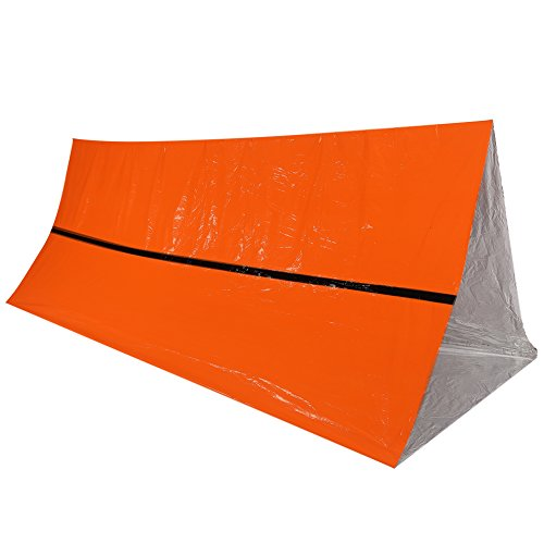 Dilwe Tienda de supervivencia, impermeable al aire libre manta térmica refugio de rescate de emergencia plegable tienda de supervivencia militar