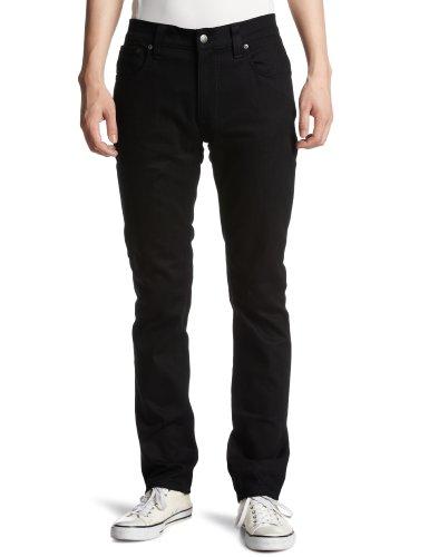 Nudie Jeans Jeans Thin Finn - Elasthananteil, ungewaschen - schmales Bein - Schwarz - Größe 32/34
