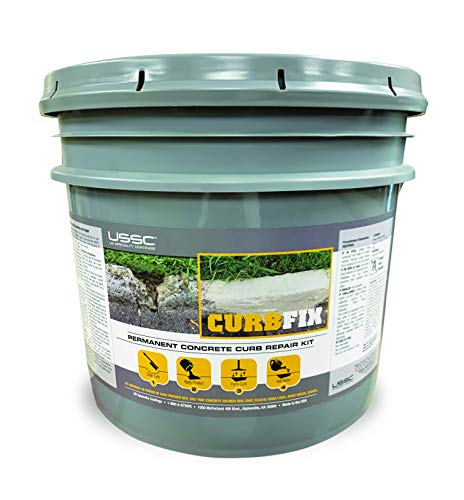40 pounds Concrete Curb Repair Kit. Permanently Repair Broken or Missing curbs. No Mixing Needed, just Pack Filler in Damaged Areas, Compact Firmly, Then Pour Water to Cure, Harden The Repaired Area.