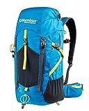 COLUMBUS Sac à Dos K 35 litres Sac à Dos Voyage 35L Backpack Camping Trekking Couleur Bleu et Jaune Randonnée