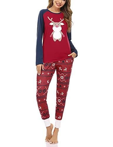 Aseniza Pijamas Navidad Familia Pijamas Mujer Hombre Niñas Niños Invierno...