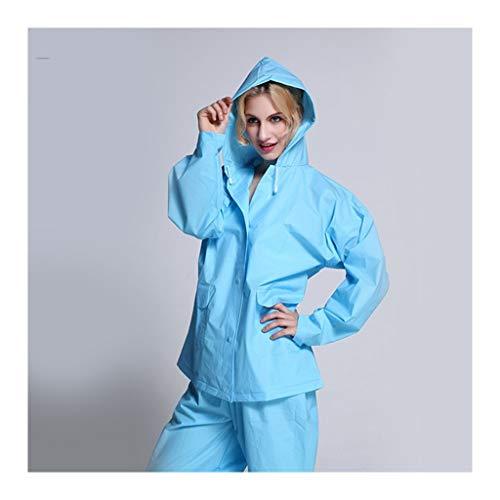 ZHANGQIANG-yuyi Verdicken Durchlässiger Wiederverwendbare Regenmantel for Erwachsene Umweltwasserdicht Multi Farben Regenmantel Anzug mit Kapuze (Color : Blue, Size : M(155-165cm))