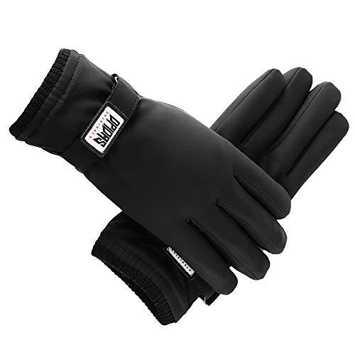 CinYun Winterhandschuhe, Anti Slip Touchscreen Handschuhe Vollfinger Winddicht Wasserdicht Warme Handschuhe für Männer Frauen zum Laufen Radfahren Fahren Schnee Skifahren(L)