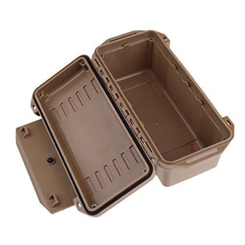 Caja Impermeable A Prueba De Golpes Caja De Supervivencia Hermética Caja De Transporte De Almacenamiento De Contenedores - marrón