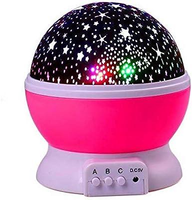 Estrellas Starry Sky Led Proyector Luna Lámpara De Noche Batería ...