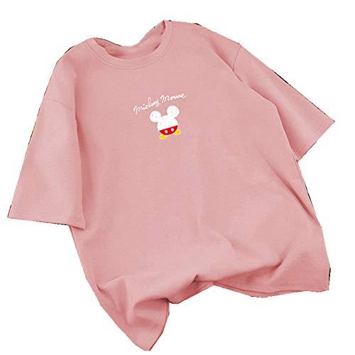 NOBRAND - Camiseta de manga corta para mujer, tamaño grande, diseño de Mickey