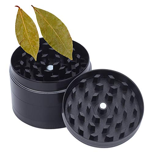2 Inch Herb Grinder, Spice Grinder with Powder Scraper, Consists of 4 Parts, Zinc Alloy Crusher with Razor Sharp Teeth Grinders
