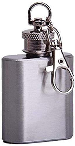 LYDIANZI Llavero Personalizado Creativo De Frasco De 30 Ml En Acero Inoxidable Pulido - Regalo Grabado único para Hombres Y Amantes del Whisky 1pc(Size:1 pcs,Color:Imagen)