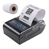 Eachbid Impresora térmica portátil de Recibos, Impresora térmica de códigos de tiques en 58 mm de Papel,Recibo de Impresora USB Bill Ticket POS Cajón de Efectivo Restaurante Impresión al por Menor