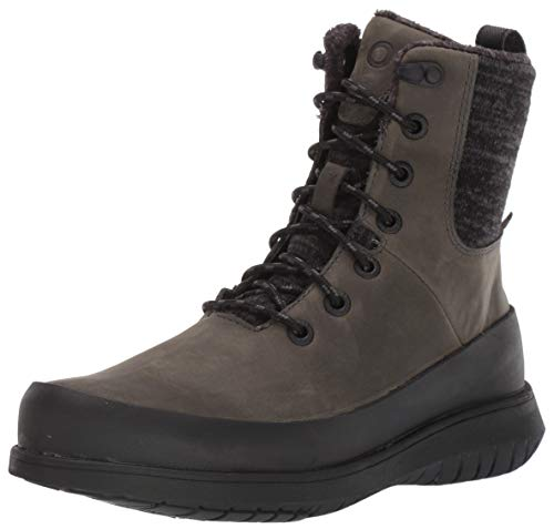 BOGS Women's Freedom Lace Waterproof Insulated Winter Snow Boot, Gray, 9.5 M US