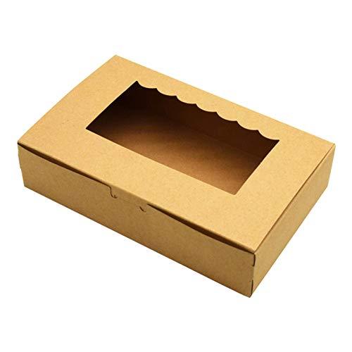 YOUNGE Natürlich Kraft Bakery Pie Box mit PVC-Fenster Große Keksdose für Kuchengebäck Naturally Kraft Bakery Pie Box with PVC Window Large Cookie Box for Cake Pastries