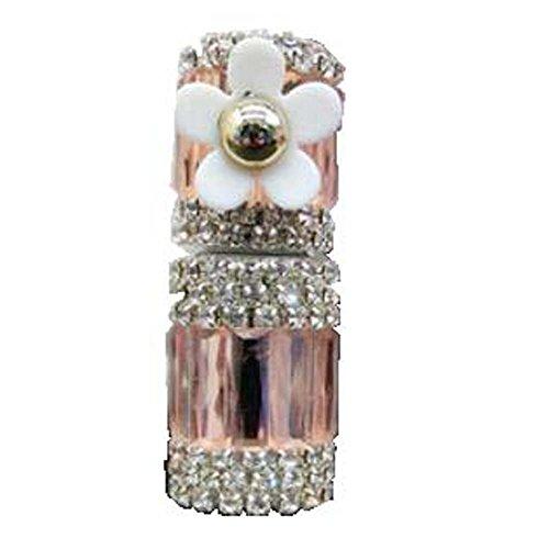 Bouteille vide d'huile essentielle de strass en verre de tube de parfum de Roll-on 5ML, fleur de Champagne