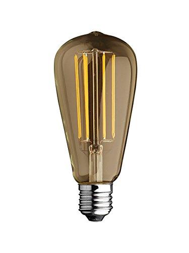 Lampadina Bulbo Edison Stile Vintage a Filamento LED 6W = 60W Luce 2700°k (Bianco Caldo) 750 lumen - Dimensioni: d 64 x 146 mm Angolo Flusso luminoso 360°