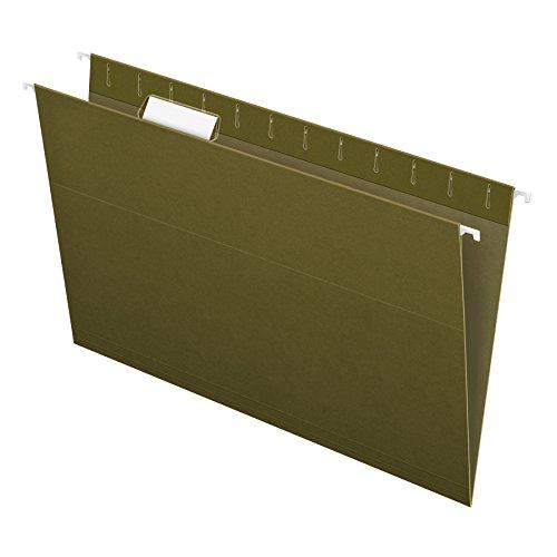 Pendaflex Recycled Hanging Folders, Legal Size, Standard Green, 1/5 Cut, 25/BX (81622)