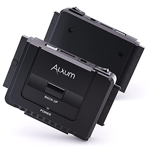 Alxum Cable adaptador de IDE a USB, adaptador de disco duro externo IDE a SATA para HDD IDE de 2,5/3,5 pulgadas y HDD/SSD SATA, con fuente de alimentación de 12 V / 2 A