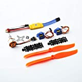 Veecome A2212 1400KV Brushless Motor 30A ESC SG90 9G Micro Servo 8060 Propeller for RC Fixed Wing Plane Helicopter