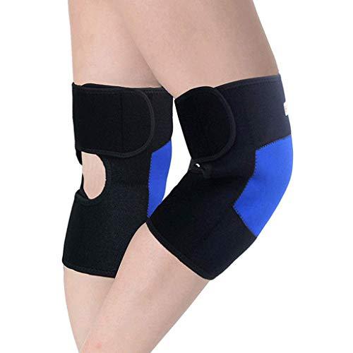 SHYPT Rodilla Brace Kneepad- for la Artritis tendinitis lesión de la articulación ruptura de menisco osteoartritis Tenis Voleibol Baloncesto Gimnasio Hombres Mujeres Alivio del Dolor (Color : Blue)