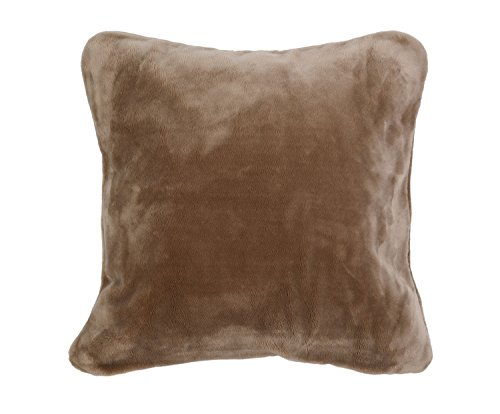 Gözze Premium Cashmere Kissenbezug, Polyester, Taupe, 50 x 50 x 5 cm, 2-Einheiten
