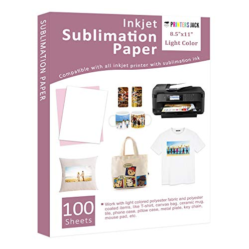 Sublimation Paper Heat Transfer Paper 100 Sheets 8.5' x 11' for Any Epson Sawgrass Ricoh Inkjet...