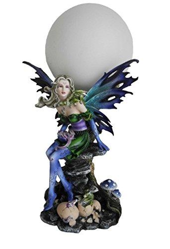 Féeries et merveilles Statuette Dragon - Lampe LUMINAIRE Dragon - HT 31 CM - sur Secteur - Statuette Figurine Dragon