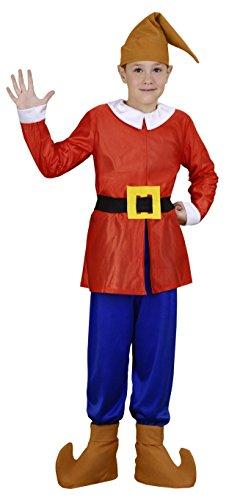 Disfraz de Enanito Rojo Infantil (7-9 años)