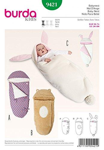 Burda Baby Schnittmuster 9421–Schlafsäcke