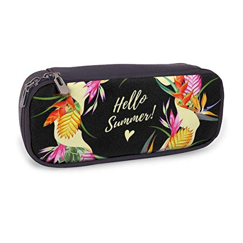 Pencil Case Pen Bag,Hello Card,Large Capacity Pen Case Pencil Bag Stationery Pouch Pencil Holder Pouch with Big Compartments