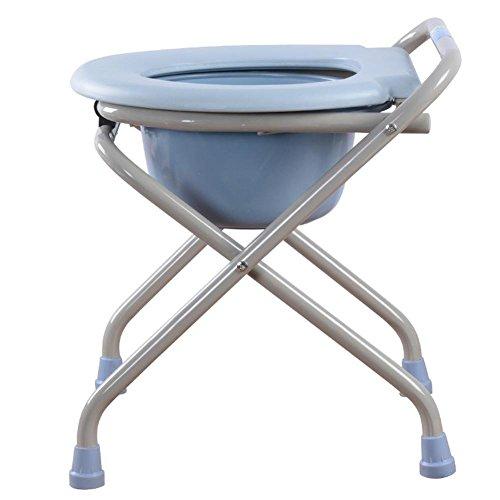 Opvouwbare Commode Deluxe Opvouwbare Lichtgewicht Verplaatsbare Commode Stoel Met Toilet Stoel Bad Stoel Kruk Voor Zwangere Vrouwen Oude Man En Gehandicapten Mensen Blauw