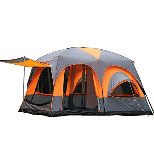 JOMSK Beach Family Tent Instant Shelter For Outdoor Camping Fishing Hiking Portable Waterproof Tent Portable Tent (Color : Orange, Size : One Size)