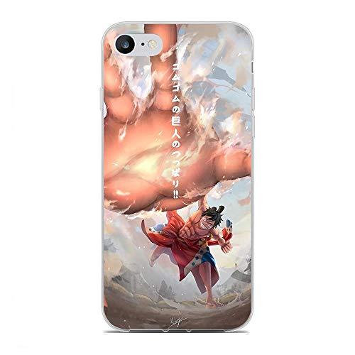 Jialan Soft Clear Coque Transparent Anti-Slip Shockproof Case Cover For Apple iPhone 6 Plus/6s Plus-One-Piece Zoro-Luffy 3