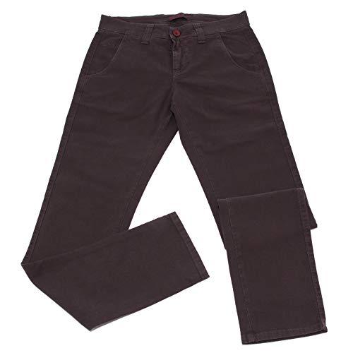 Carlo Chionna 0584K Pantalone Uomo 9.2 Denim Light Brown Delave' Textured Cotton Trouser Man [32]