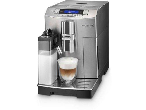 De\'Longhi PrimaDonna S ECAM 28.466.MB Kaffeevollautomat (Digitaldisplay, integriertes Milchsystem, Lieblingsgetränke auf Knopfdruck, Edelstahlfront, 2-Tassen-Funktion) Edelstahlfront / silber