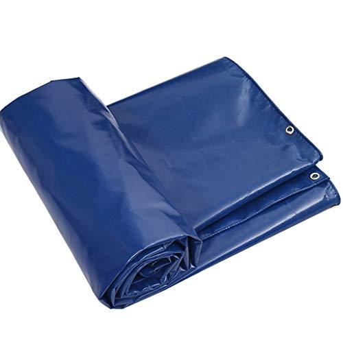 YXJBD Premium Gewebeplane PVC-Plane Leinwand Clip Mesh-Wasserdicht und verschleißfeste Breeding Pool Cloth Campingplane (Color : Blue, Size : 13.2x19.8ft/4x6m)