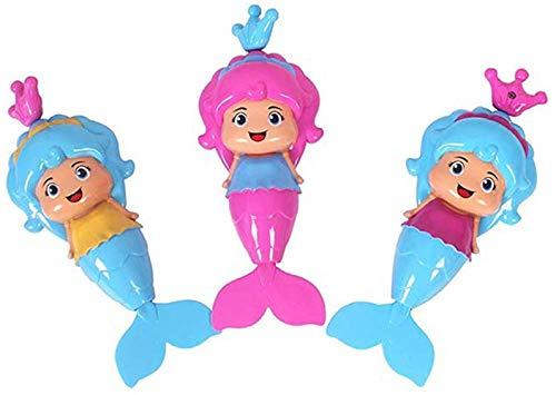 Geggur Divertidos Juguetes para Nadar para bebés, Juguetes flotantes con Mecanismo de Sirena, bañeras, baños, Juguetes educativos para el Tiempo recreativo Junto a la Piscina,PinkBlue