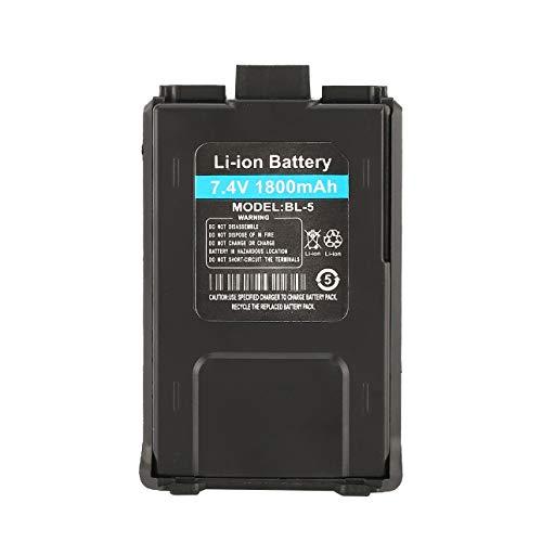 Ballylelly 1800mAh batería de Iones de Litio para Radio bidireccional Baofeng UV-5R UV-5RE Walkie Talkie